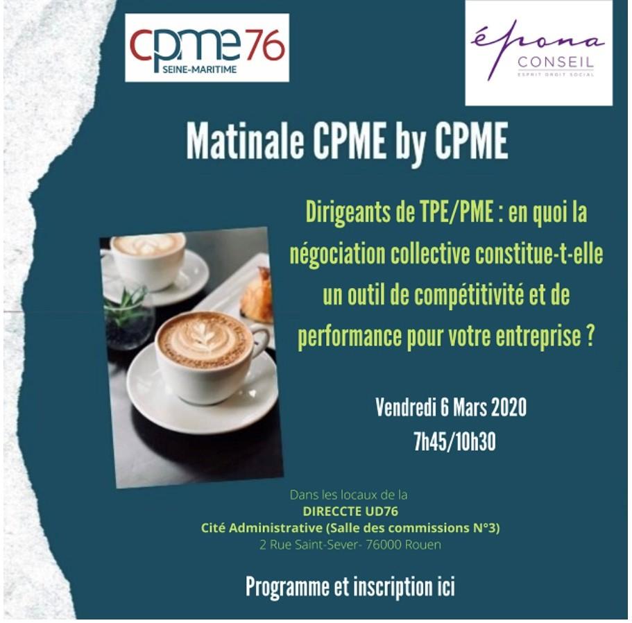 Matinale CPME 76 du 6 mars 2020